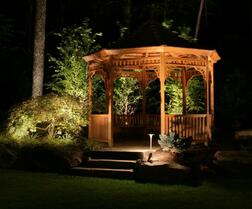 Custom Outdoor Lighting in Fayetteville, Bentonville & Rogers Arkansas.